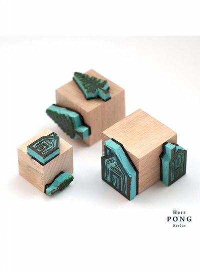 Herr Pong DAS HAUS Grußkarte