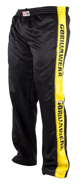 Gorilla Wear Track Pants Black Yellow Available At Real