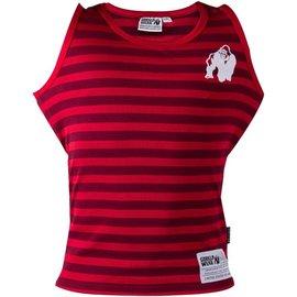 Gorilla Wear Stretch Tank Top - Stripes - Red