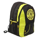 Gold's Gym Back Pack - Black/Gold