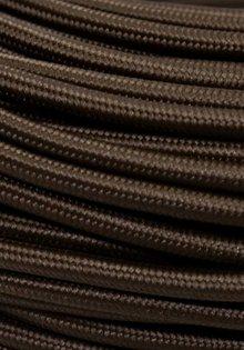 Stoffen Snoer, donker Bruine kleur