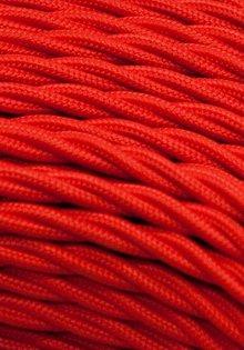 Strijkijzersnoer, rood, gevlochten