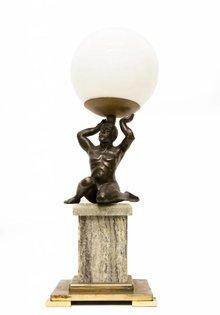 Antieke Tafellamp, Gedragen Licht