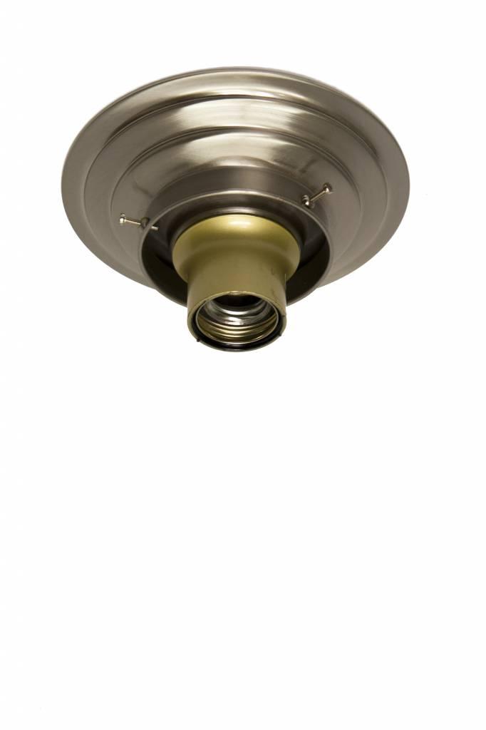Plafondring mat nikkel, voor opstaande rand lampglas met diameter 8 cm   Lamplord