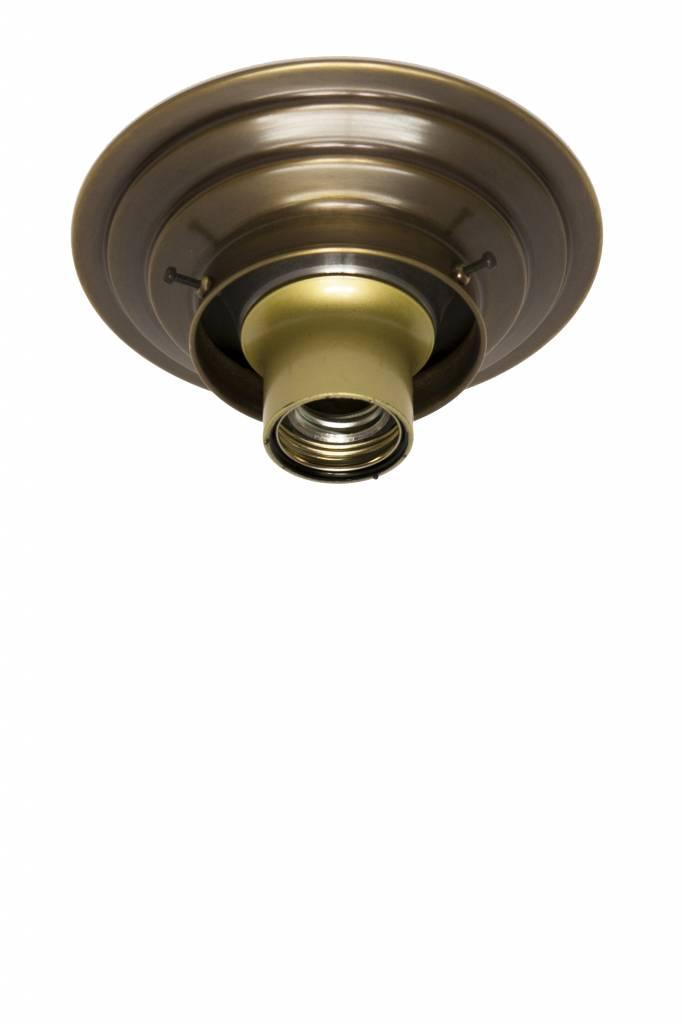 Plafondring gepatineerd koper, voor lampglas met opstaande rand   Lamp