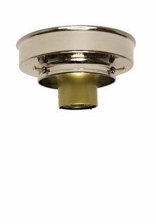 Plafonniere ring, glans nikkel, 8 cm