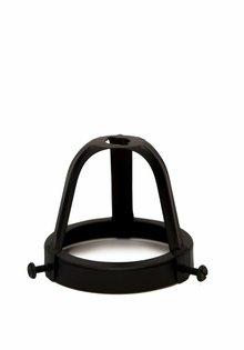 Lampenkaphouder, zwart, 6 cm, open model