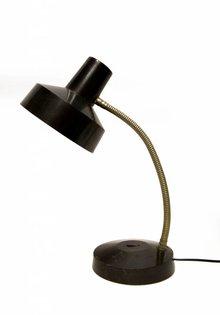 Retro Bureaulamp, Zwart-Zilver (1013.01), 1950