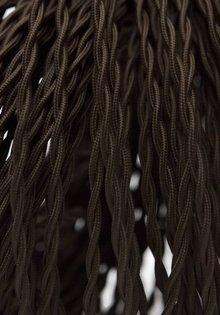 Strijkijzersnoer, Gevlochten, 2-Draads, Bruin