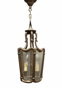 Bronzen Hallamp, Sierlijke Lantaarn, ca. 1910