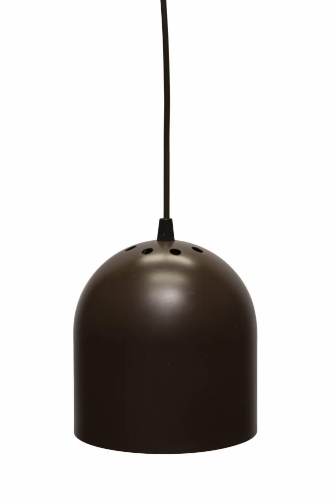 Retro Hanglamp, jaren 60, Raak Design, Bruine Metalen Cilinder ...