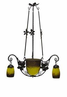 Degue Hanglamp, Gesigneerd Glas