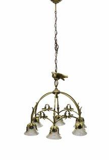 Grote Hanglamp, Boog met Vogel, Jaren 30