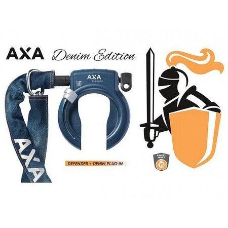 AXA Defender ringslot (ART 2) met insteekketting 140 cm (denim blauw)