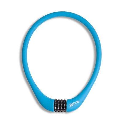 Lynx Siliconen Combinatie Kabelslot 70 CM Blauw