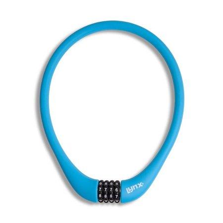 Lynx Siliconen Combinatie Kabelslot 70 CM viercijferig Blauw