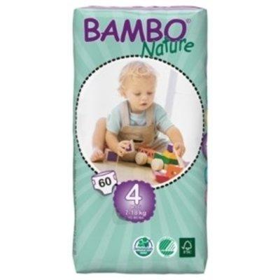 Bambo Bambo Nature Babyluier maxi 4, 7–18 kg (60 stuks)