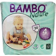 Bambo Nature Babyluier maxi 4, 7–18 kg (30 stuks)