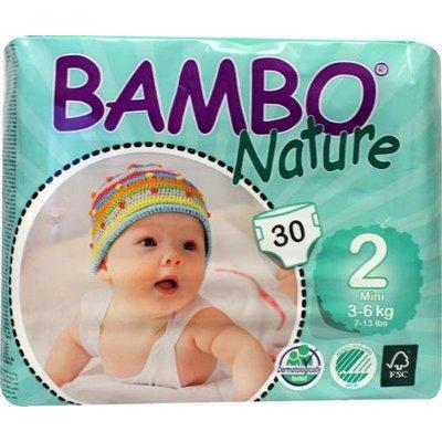 Bambo Bambo Nature Babyluier mini 2, 3-6 kg (30 stuks)