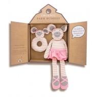 Applepark Organic Farm Buddies Gift Set Ballerina Mouse