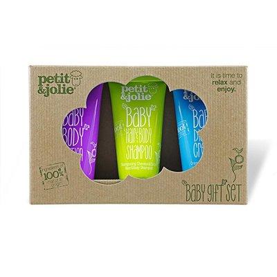 Petit & Jolie Cadeau Box 2 natuurlijke Baby Verzorging mini 's