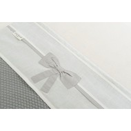 Little Naturals by Jollein Laken LN 120x150cm Linen bow white/grey