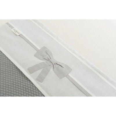 Little Naturals by Jollein Laken Linnen bow 120x150 cm white/grey