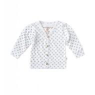 Little Label Vest met knoopjes – off white met zwarte ankertjes