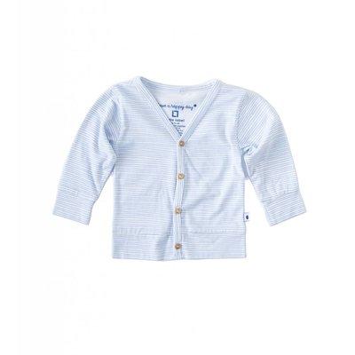Little Label Vest met knoopjes – lichtblauw gestreept