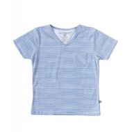 Little Label Shirt V-hals boys – oceaanblauw gestreept