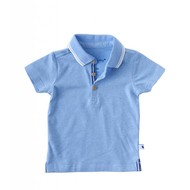 Little Label Polo shirt – oceaanblauw gemêleerd