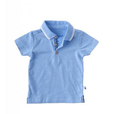 Little Label Polo shirt – oceaanblauw gemêleerd