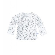 Little Label Wikkelshirt lange mouw – black & blue dots
