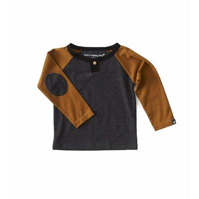 Little Label Shirt baby boy – antraciet gemêleerd – maat 74 en 80