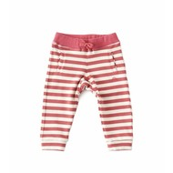 Little Label Baby sweatbroekje – roze/beige gestreept