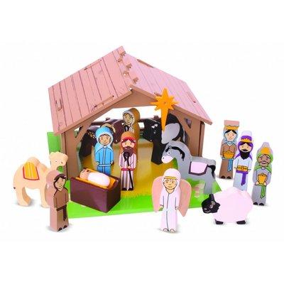 Bigjigs Toys Houten Kerststal / Nativity set