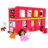 Bigjigs Toys Rode Bus Houten Sorteerspel