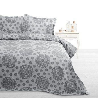 Fancy Embroidery bedsprei Italica A Grey