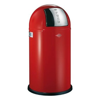 Wesco Pushboy 50L ROOD afvalemmer