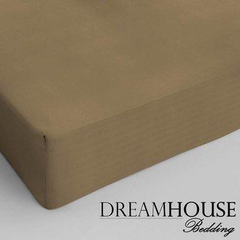 Dreamhouse bedding hoeslaken katoen TAUPE
