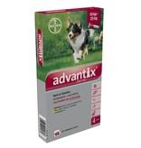 Advantix Advantix 250/1250 voor honden van 10 tot 25 kg - tegen vlooien en teken - 4 pipetten