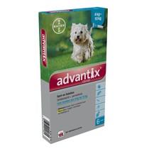 Advantix Advantix 100/500 voor honden van 4 tot 10 kg - tegen vlooien en teken - 6 pipetten