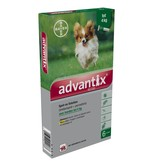 Advantix Advantix 40/200 Hond <4kg | tegen vlooien en teken - 6 pipetten