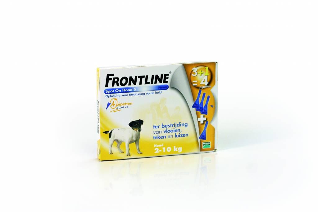 Frontline Frontline Spot On S Hond 2kg-10kg | tegen vlooien en teken - 4 pipetten