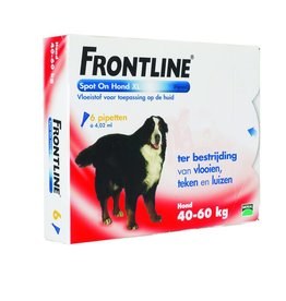 Frontline Spot On XL Hond 40kg-60kg 6 pipetten