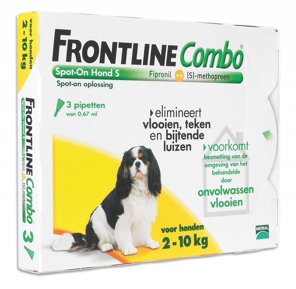 Frontline Frontline Combo S Hond 2kg-10kg | tegen vlooien en teken - 3 pipetten