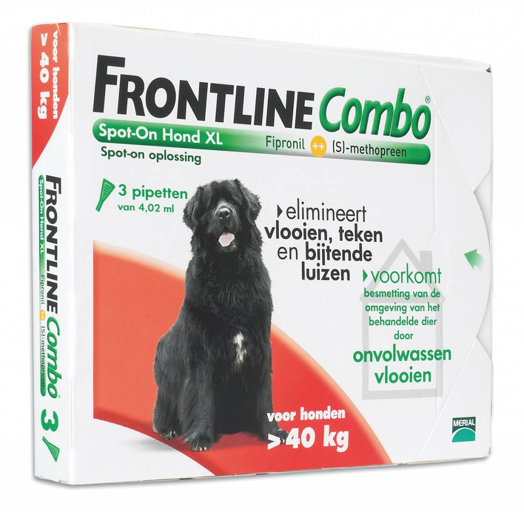 Frontline Frontline Combo XL Hond 40kg-60kg | tegen vlooien en teken - 3 pipetten