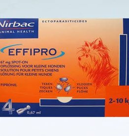 Effipro Spot On S Hond 2kg-10kg 4 pipetten