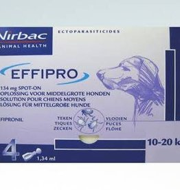 Effipro Spot On M Hond 10kg-20kg 4 pipetten