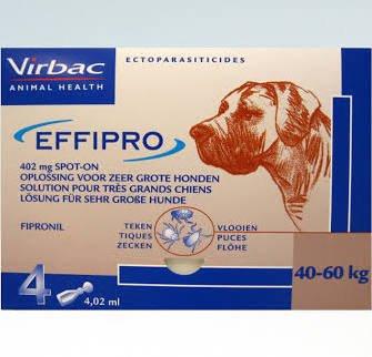 Effipro Effipro Spot On XL Hond 40kg-60kg | tegen vlooien en teken - 4 pipetten